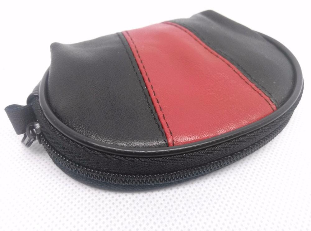 genuine leather wallet coin purse women men patwork fashion (4)