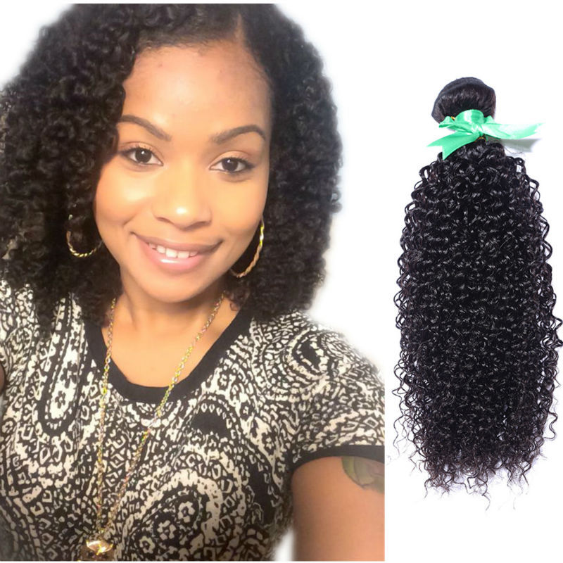 malaysian kinky curly virgin hair 4pcs/lot mixed8''-30'' afro kinky curly natural black hair extension human hair weave ful ends