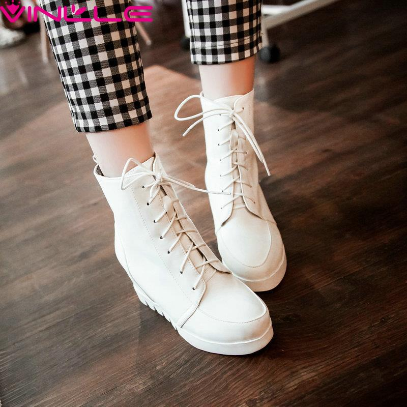new 2015 winter fashion sexy med Lace-Up woman boots pink white women boots(China (Mainland))