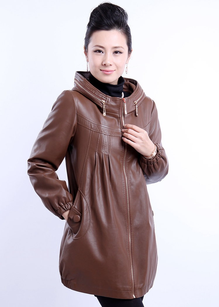 Hot!! ! Large-size women Fashion casual upscale sheep skin leather Motorcycle Jacket XL-6XL - T Y HUI's store