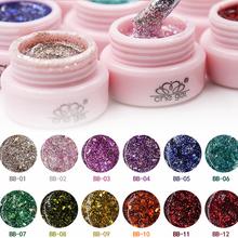 Buy 12 colors Super Bling Gel Nail Polish Pure Soak UV LED Starry Gel Polish UV LED Glitter Sequins Nail Gel Nail Art for $17.99 in AliExpress store