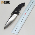 BMT Ball Bearings MDF 1 Flipper Tactical Survival Folding Knife with D2 Blade G10 handle camping