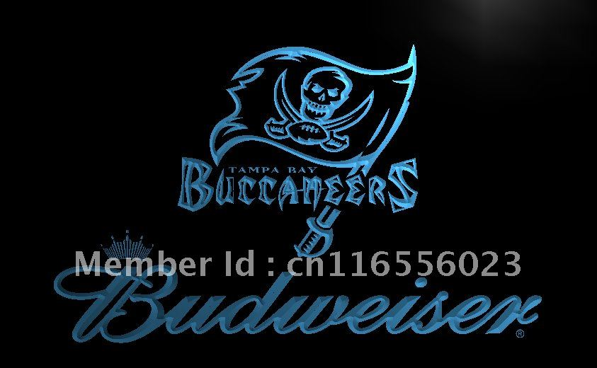 LD288- Tampa Bay Buccaneers Budweiser LED Neon Light Sign home decor shop crafts(China (Mainland))
