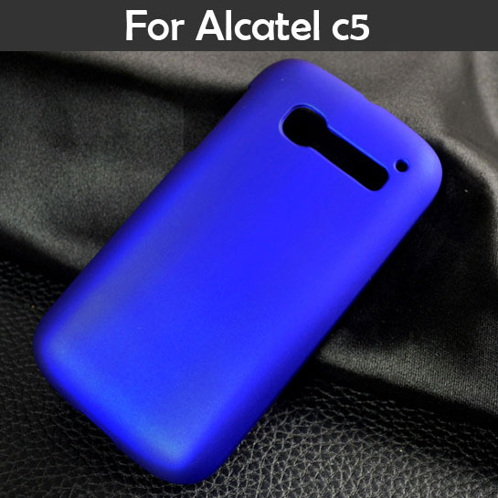 For Alcatel One Touch POP C5 5036 OT5036 cellphone bag slim frosted hotsale matte oil-coated rubber phone case skin hood cases(China (Mainland))