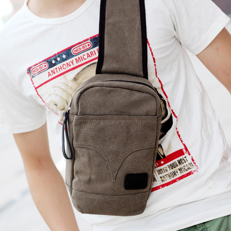 Fanny Pack Top Solid 2015 New Men Waist Packs Bags Canvas Bag Male Shoulder Crossbody Outdoor Sports Man