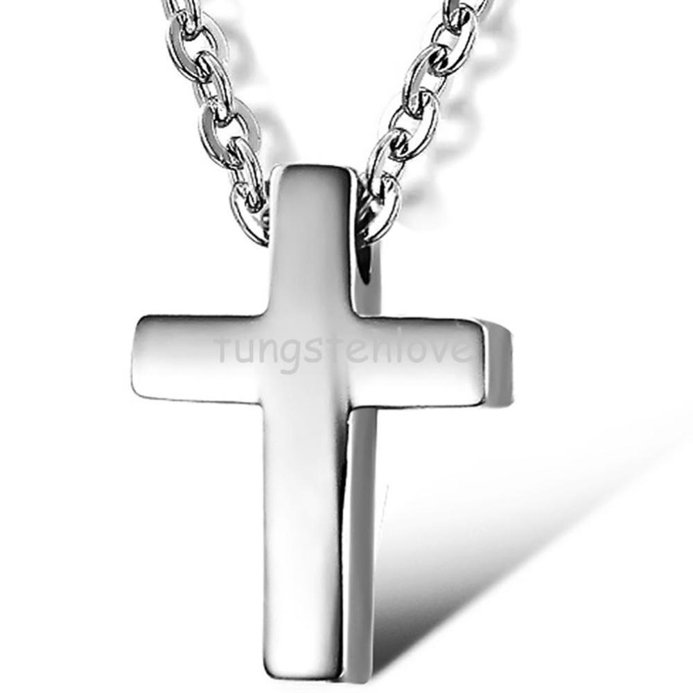 Fashion High Polished 316l Stainless Steel Silver Cross Necklace for Women Mens Cross Pendant Neckaces Womens(China (Mainland))