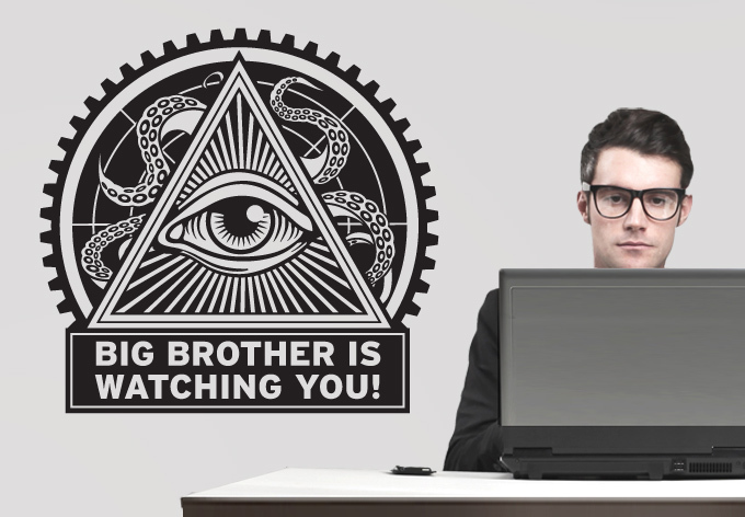 Big Brother Is Watching You Retro Sticker Self Adhesive Wall Paper Cheap Wallpaper For Living