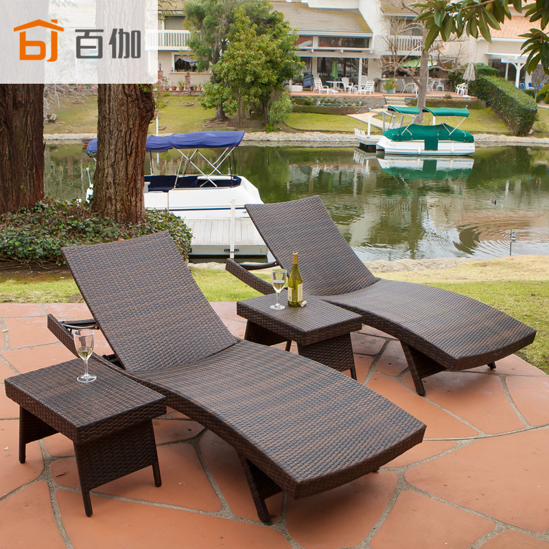 Casual outdoor beach lying bed pool balcony garden for Mobiliario piscina