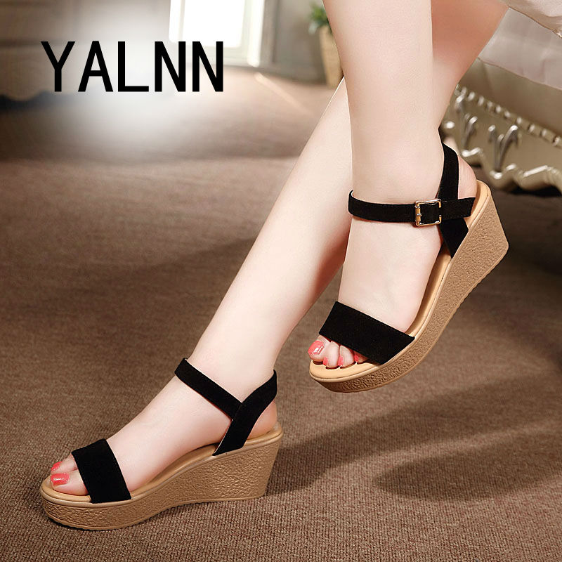 Superior QualitySummer style comfortable Bohemian Wedges Women sandals for Lady shoes high platform open toe flip flops Plus(China (Mainland))