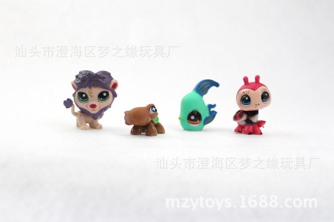 lps toy Anime pet shop pokemon Cute Cat Dog Elephant Lizard Animals pokemon kids toy 4