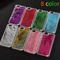 New Fashion Liquid Glitter meteor sand sequins Colorful Dynamic Transparent Hard Mobile Phone cases For iphone4s
