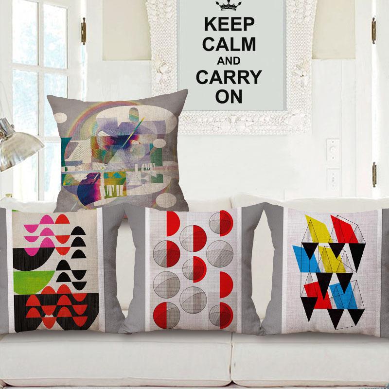 Scandinavian 18 X 18 Colorful Geometric Decorative Throw Pillows Kussens Home Decor Cushions Coussin Cuscini Cojin Almofada Pouf