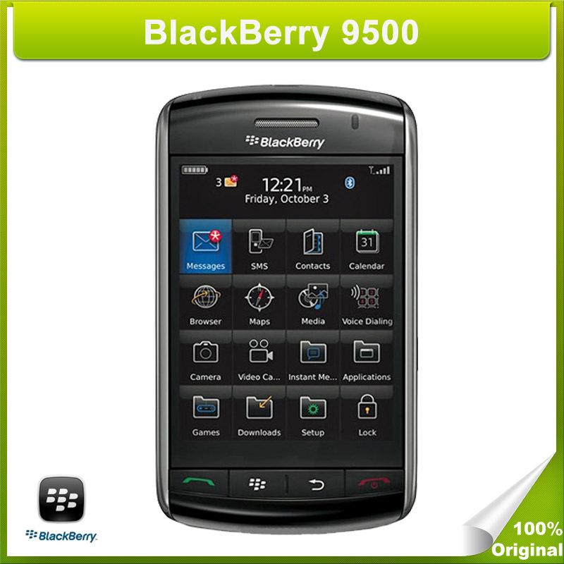 Original BlackBerry 9500 Refurbished Unlocked 3.2MP Camera WCDMA & GSM Network (Black)(China (Mainland))