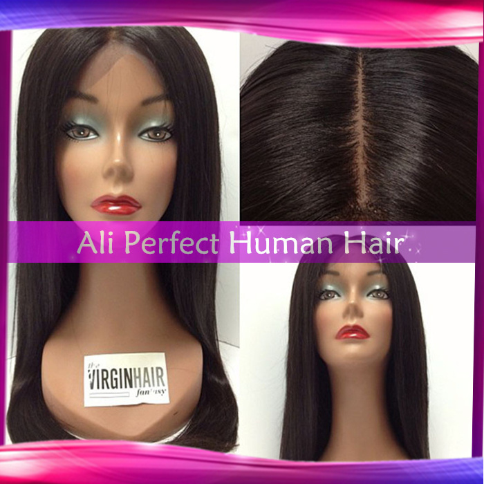 4x4 silk base wigs silky straight brazilian virgin hair silk top lace front wigs/glueless silk top full lace wigs freeshipping(China (Mainland))