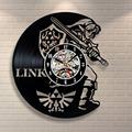 New Art CD Vinyl Record Wall Clock Saat Legend of Zelda Handmade Watch Black Horloge Murale
