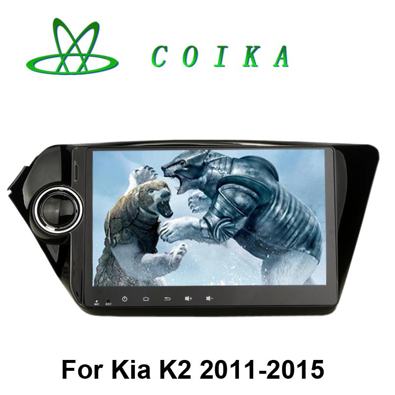2016 Newest Android 5.1 System Auto Stereo For Kia K2 New Rio Radio Tape Recorder GPS Navi WIFI 3G OBD DVR 1080P RDS DAB Option(China (Mainland))