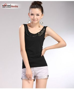 fashion cotton short sleeve  T-shirt for office lady