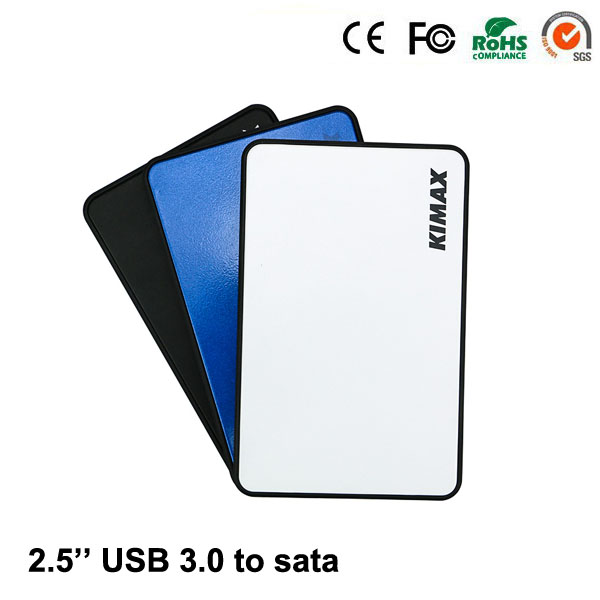 2016 New Design Hdd Case Plastic Black White Blue Micro-mini Usb 3.0 To 2.5'' Inch Sata Up 1tb Suit 7mm 9.5mm Laptop Box(China (Mainland))