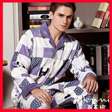 new 2014 quality coral fleece men pajama set winter sleepwear thicken home clothing pajamas pijama plus size Free shipping(China (Mainland))