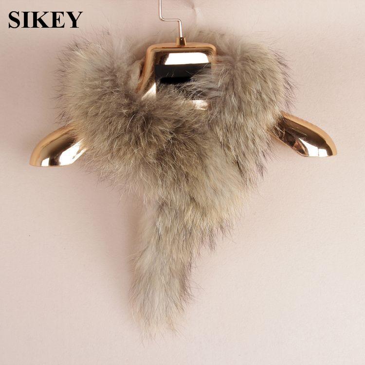 SCF021 Genuine real natural Raccoon Fox Fur Scarf Scarves Neck Warmer Wrap Cape Shawl Poncho Stole(China (Mainland))