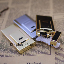 Tiger Windproof Ultra-Thin Metal Pulse Charge Usb Lighter Electronic Cigarette Lighter New Fashion Windproof Lighters