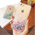 Fashion Liquid Glitter Sand Mobile Phone Cases For iphone 6 6s 5 5s SE 7 7