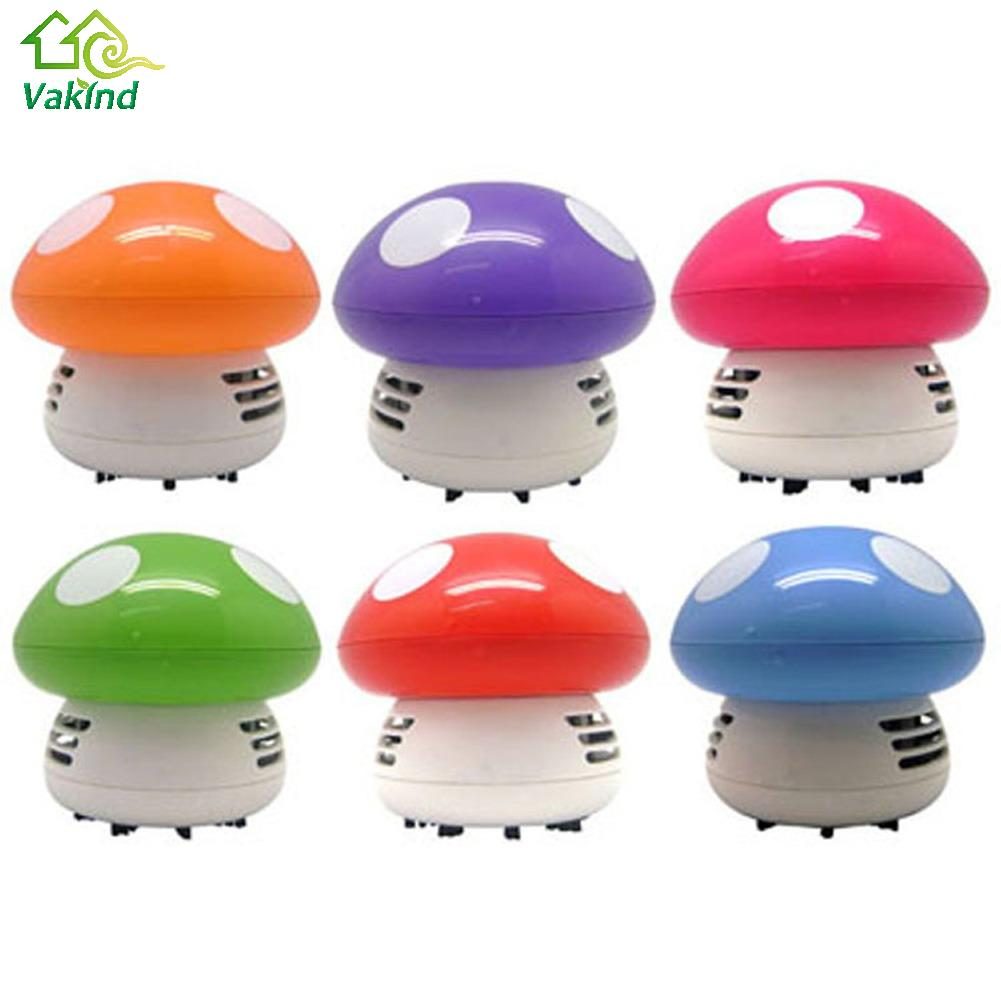 2016 Hot Ritzy Cute Mini Mushroom Corner Desk Table Dust Vacuum Cleaner Sweeper Unique small vacuum hand held sweeper(China (Mainland))