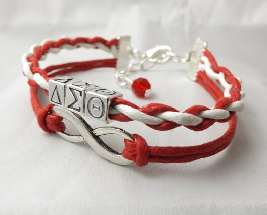 free shipping  Infinity Love Delta Sigma Theta 1913 Wrap Bracelet DST Gift for Members Custom  Bracelet Drop Shipping