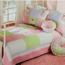 #06 american applique embroidery girl princess pink cake 100% cotton 2set quilt cover sets hotsale promotion(China (Mainland))