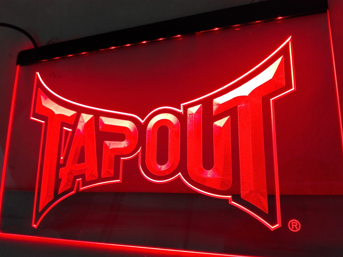 Ld429 Tapout Led Neon Light Sign Home Decor Crafts In Plaques Signs From Home Kitchen