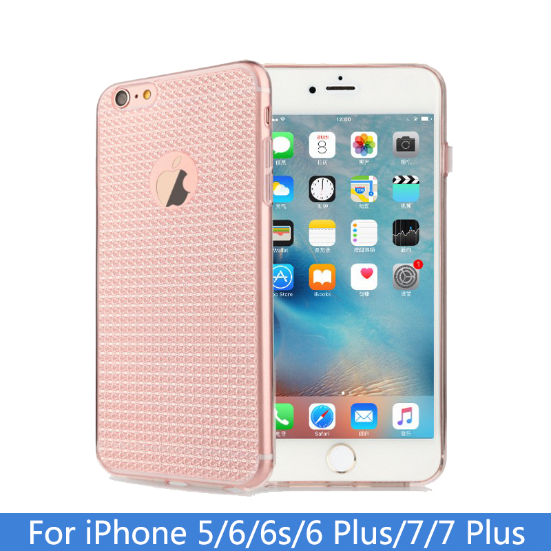 Phone Shell For Apple iPhone 5 5S SE 6 6S Plus 6SPlus Back Case Cover Bling Diamond Pattern Cell Phone Cases for iPhone5 5S SE(China (Mainland))