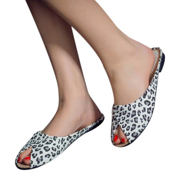 Женская обувь 2016 пляжные тапочки мода золотой серебряный открытым носком леопарда ...