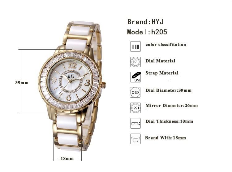 Мода керамическая группа золото женщины девушка часы с бриллиантами шику старинные браслет кварцевые наручные часы шок противостоять бесплатная доставка h215