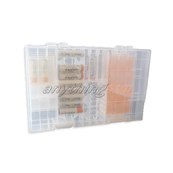 ONLY Rack Transparent AA AAA C D 9V Hard Plastic Battery Case Holder Storage Box(China (Mainland))