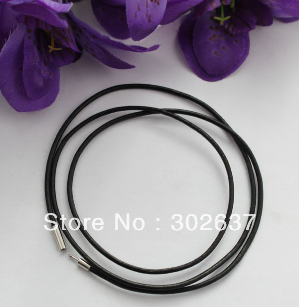 20 PCS 3mm Black Leather Cord Necklaces 80cm #22501 FREE SHIPPING
