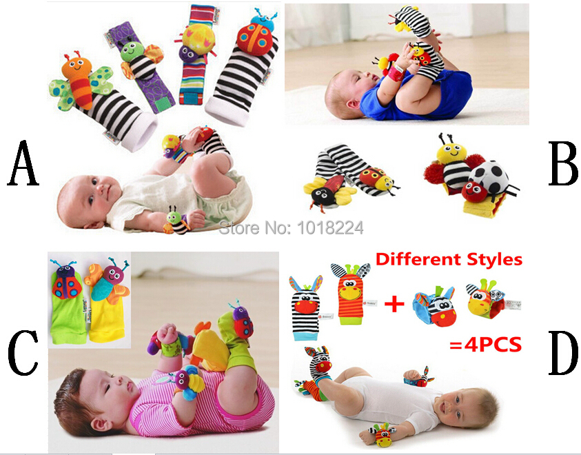 Toy Sets For Toddlers 4pcs/set Baby Rattle Toys 2015