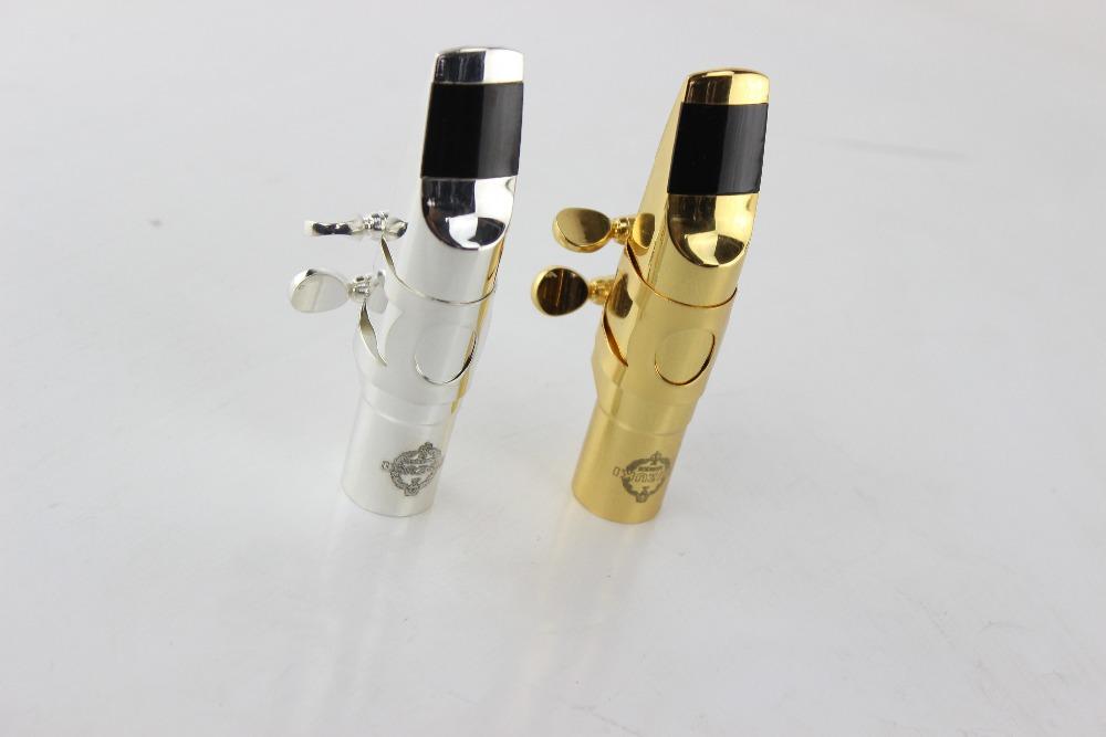 SUZUKI Professional Silvering and Gold Metal Saxophone Alto Mouthpiece Sax Size 7 Musical Instruments Eb Tone Alto Mouthpiece