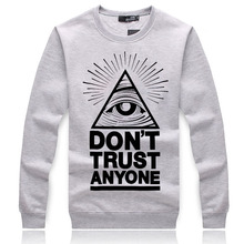 2015 Men hoodies Sweatshirt Don't trust anyone autumn winter Hoodie Thick Hoody sweatshirt black hip hop Sweatshirts ding(China (Mainland))