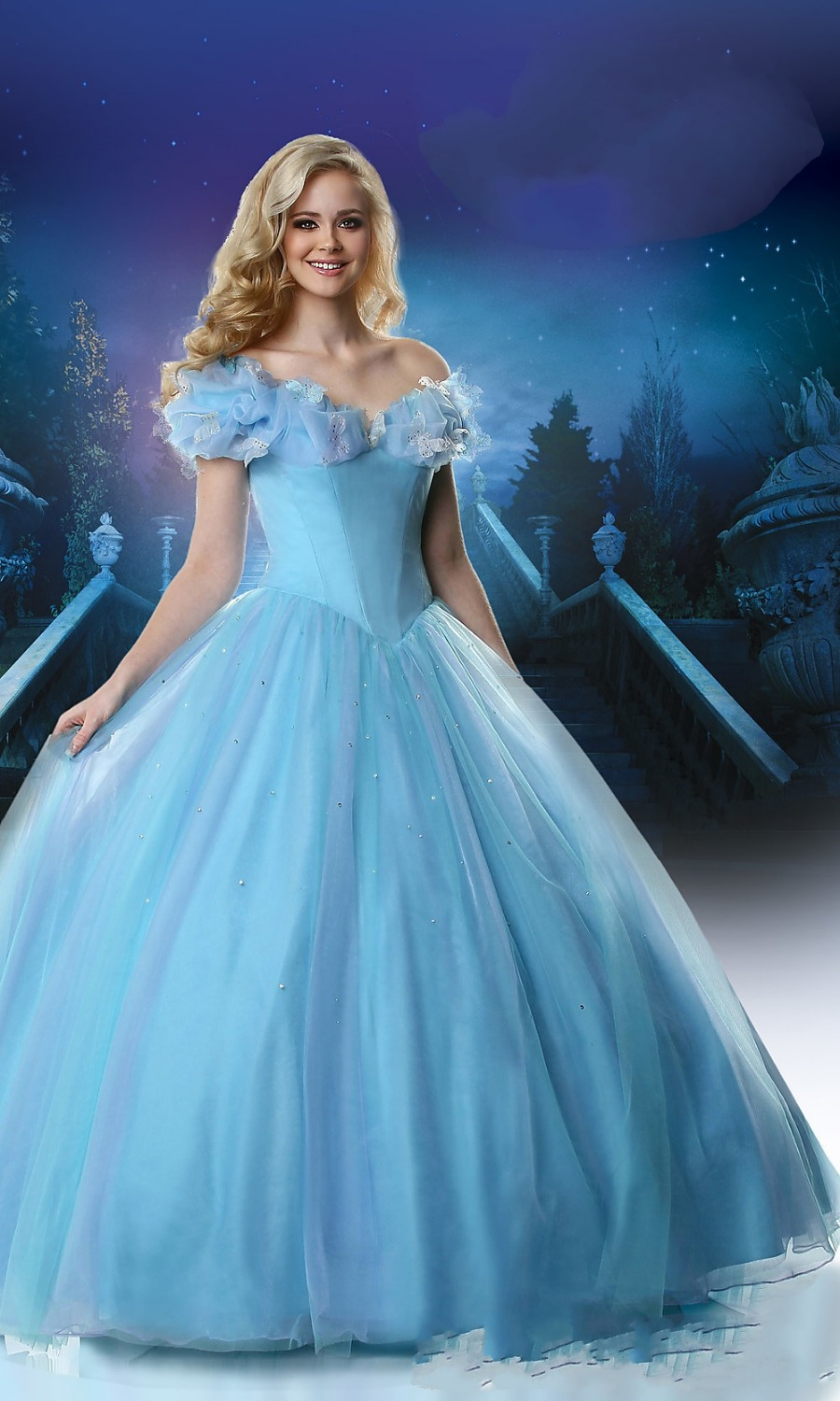 Ice Blue Ball Gown