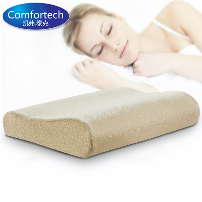 Free shipping comfortech slow rebound memory foam pillow for Memory foam pillow for neck pain
