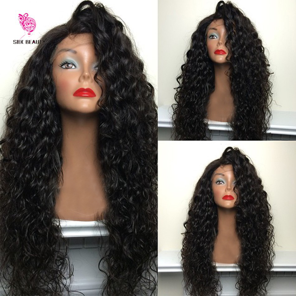 180 Density Full Lace Wig Virgin Brazilian Human Hair Curly Lace Front Wig Glueless Full Lace Human hair Wigs For Black Women(China (Mainland))