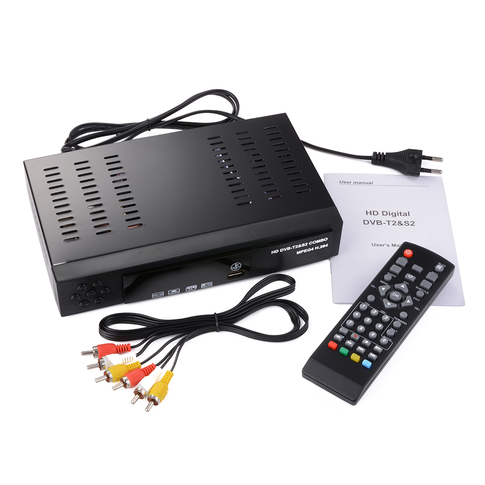 digital satellite tv receiver combo dvb t2 s2 fta hd 1080p dvb t2 tv box eu plug ah206 in. Black Bedroom Furniture Sets. Home Design Ideas