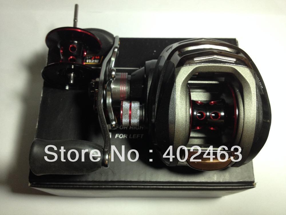 Free shipping  Trulinoya  Bait  Casting fishing reel  Left hand  Black 10+1 BB   Gear Ratio: 6.3:1    Increase the spare spool<br><br>Aliexpress