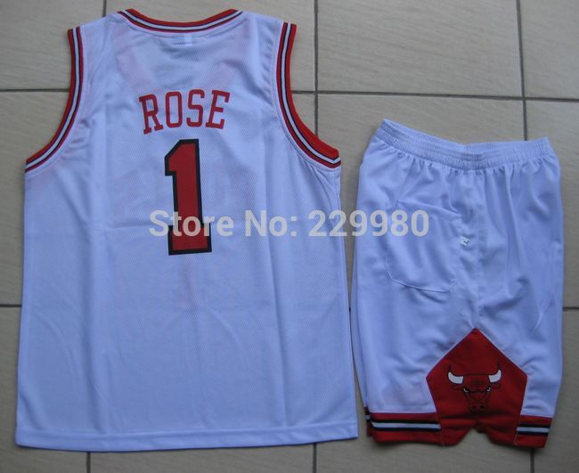 Hot Style3 Colors Kid's Childrens Boys Girl's Basketball Jersey Suits Clothing Set Shirt + Shorts Print#1 - Children Jerseys store