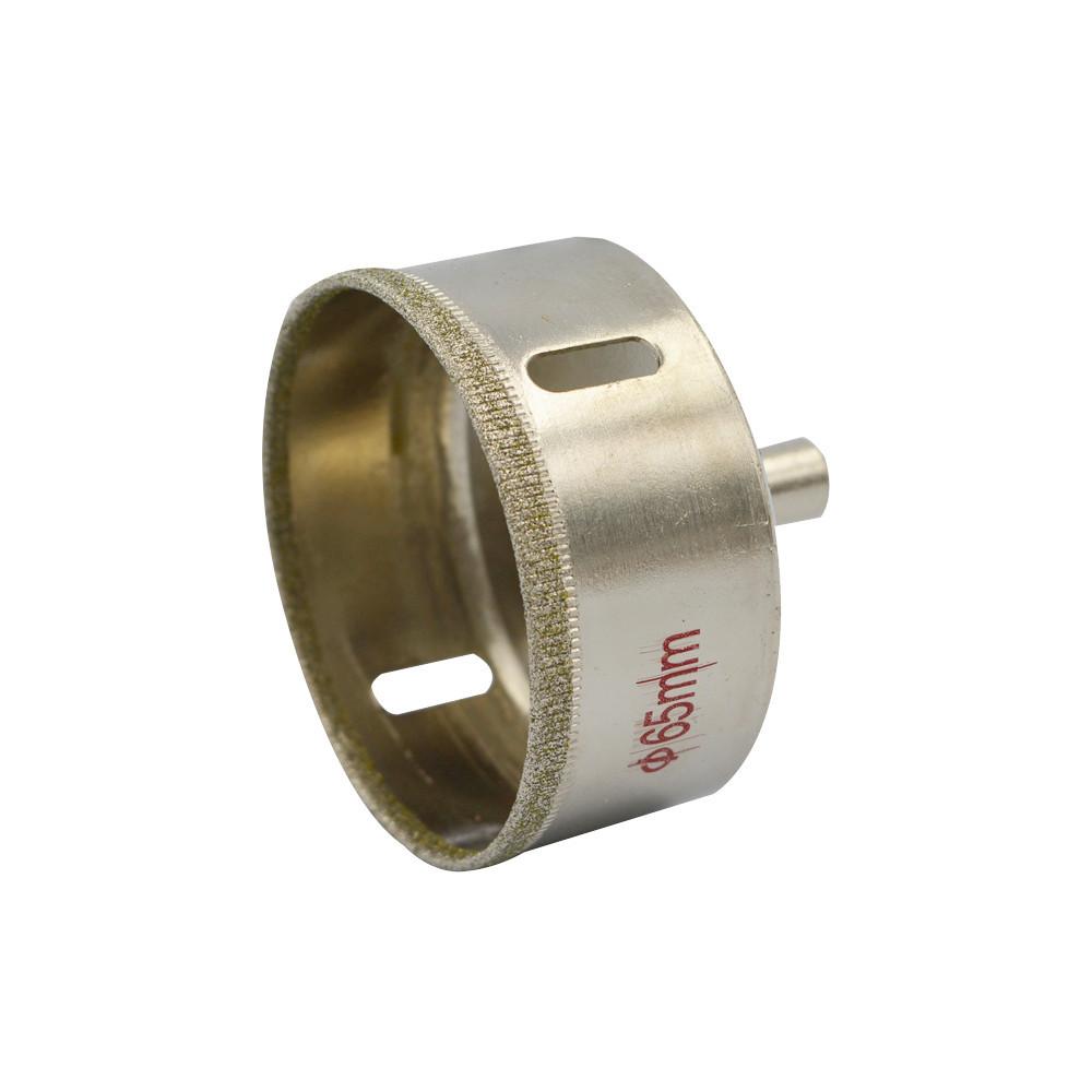Diamond Particles 65mm Diameter Silver Tone Cutting Tool Drill Bit Glass Hole Saw<br><br>Aliexpress
