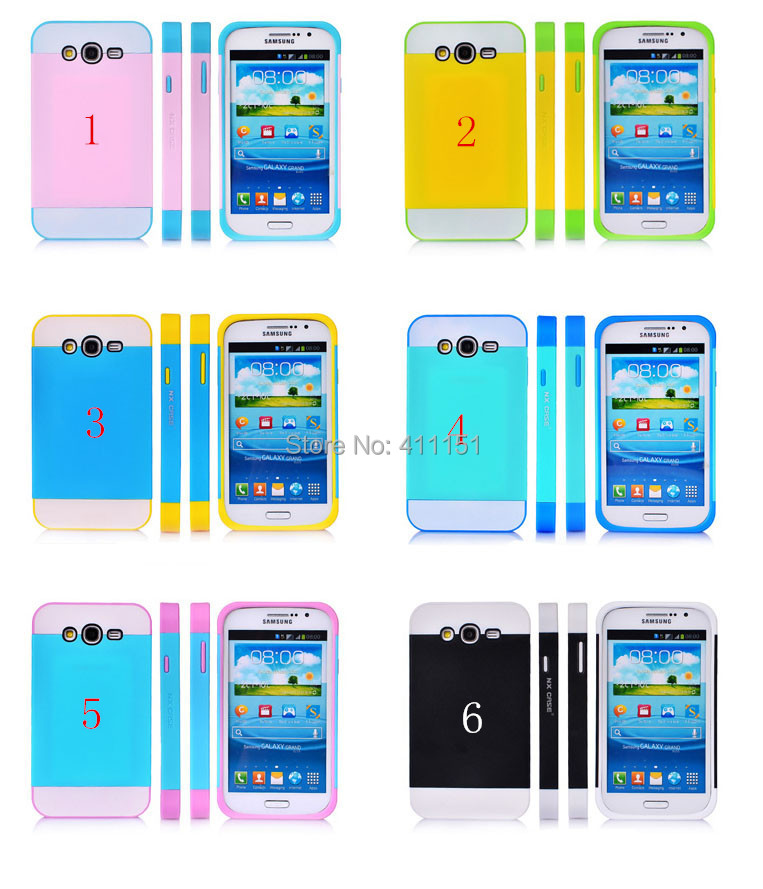 2014 TPU & Plastic Colorful Life 2 1 Slim Armor Soft Hard Case Back Cover Samsung Galaxy Grand Duos i9082 - ALEX ZHOU Store store