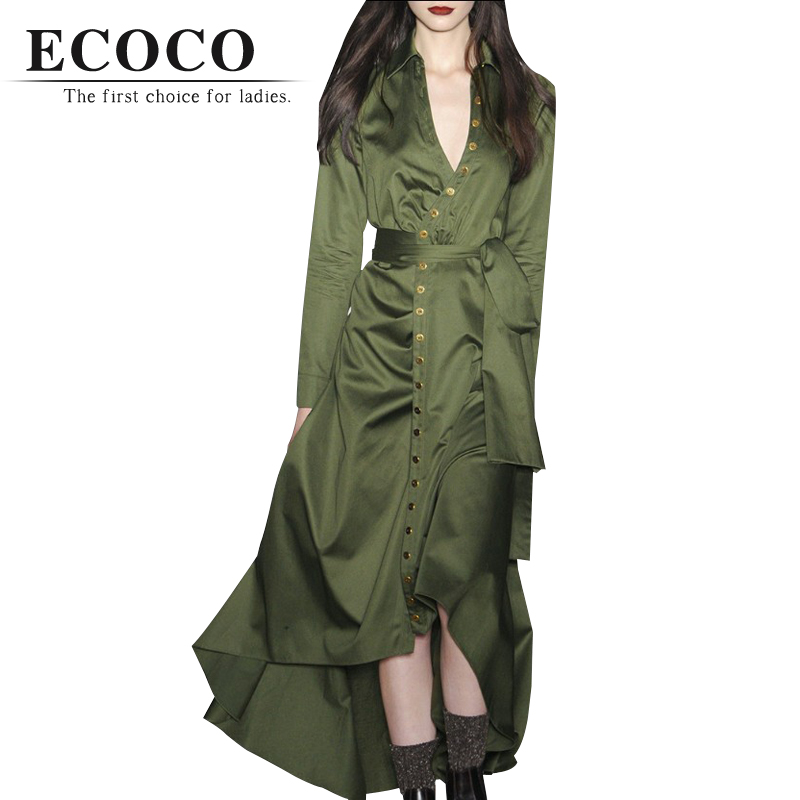 Здесь можно купить  Spring Autumn Army Green Trench Dress Coat Single Breast Long X-long Turn-down V Collar Slim Casual Windbreaker Parka Large D083 Spring Autumn Army Green Trench Dress Coat Single Breast Long X-long Turn-down V Collar Slim Casual Windbreaker Parka Large D083 Одежда и аксессуары