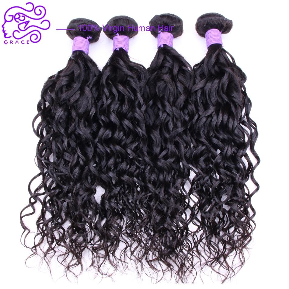 Queen Hair Products 8A Grade Peruvian Virgin Hair 4 Bundles 100% Water Wave Virgin Hair Ocean Wave Wet and Wavy Human Hair Weave<br><br>Aliexpress