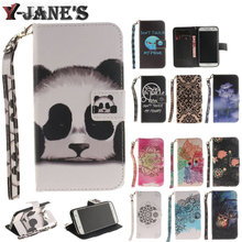 Hot Owl Flower Panda Stand Flip Wallet Paiting Lanyard Leather Cover Soft TPU Case Asus Zenfone 2 5.5 ZE551ML ZE550ML - Y-Jane's Store store