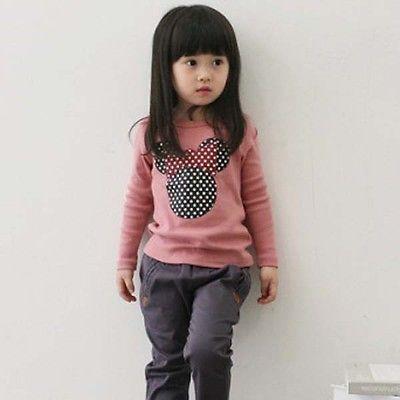 Fashion Baby Kid Long Sleeve Cat Shirt Tops Clothes Girls Blouse T-Shirt Sz2-7Y(China (Mainland))